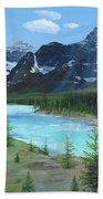 Athabasca River Bath Towel