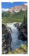 Athabaska Falls, Mt. Hardisty Bath Towel