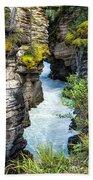 Athabaska River Slot Canyon Bath Towel