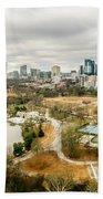 Atlanta Georgia City Skyline Bath Towel