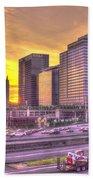 Atlanta Midtown Atlantic Station Sunset Bath Towel