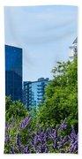 Atlanta Skyline From Atlanta Botanical Garden Bath Towel