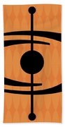 Atomic Shape 1 On Orange Bath Towel