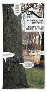 Attention Oak Tree Shoppers Bath Towel