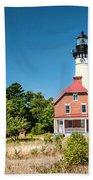 Au Sable Point Lighthouse Bath Towel