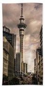 Auckland Sky Tower Bath Towel