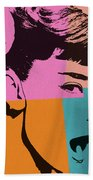 Audrey Hepburn Pop Art 2 Bath Towel