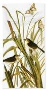 Audubon: Sparrow, (1827) Bath Towel