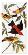 Audubon: Tanager, 1827 Bath Towel