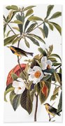 Audubon: Warbler, 1827-38 Bath Towel