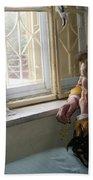 Aunt Leila - Watching Over The Neigbourhood Bath Towel