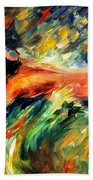 Aura Of Love - Palette Knife Oil Painting On Canvas By Leonid Afremov Bath Towel