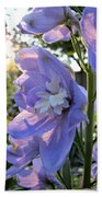 Aurora Light Purple Delphinium And Sunset No. 2 Bath Towel