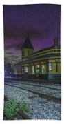 Aurora Over The Crawford Notch Depot Hand Towel