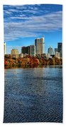 Austin Skyline From Lou Neff Point Bath Towel
