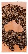 Australia Cafe Artwork Hand Towel