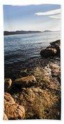 Australian Bay In Eastern Tasmania Bath Towel