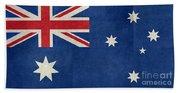 Australian Flag Vintage Retro Style Bath Towel