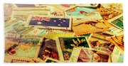 Australian Postal Background Hand Towel