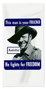 Australian This Man Is Your Friend  Hand Towel