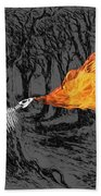 Australopithecus And The Dragon Hand Towel