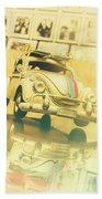 Automotive Memorabilia Bath Towel