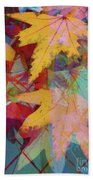 Autumn Abstract Hand Towel