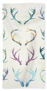 Autumn Antlers Bath Towel