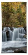 Autumn At Dunloup Creek Falls Bath Towel