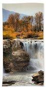 Autumn At Lundbreck Falls Provincial Park Bath Towel