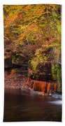 Autumn At Wolf Creek Falls Bath Towel