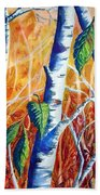 Autumn Birch Hand Towel