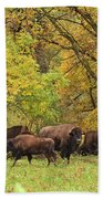 Autumn Bison Bath Towel