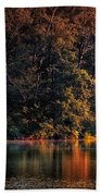 Autumn Boating At Argyle Lake Bath Towel