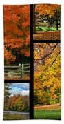 Autumn Collage Bath Towel