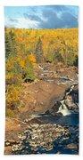 Autumn Color Along Beaver River Bath Towel