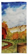 Autumn Farm Hand Towel