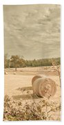 Autumn Farming And Agriculture Landscape Hand Towel