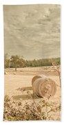 Autumn Farming And Agriculture Landscape Bath Towel