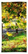 Autumn Fence Bath Towel