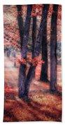 Autumn Firelight Bath Towel