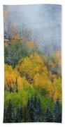 Autumn Fog And Snow Bath Towel