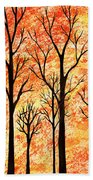 Autumn Forest Abstract  Bath Towel