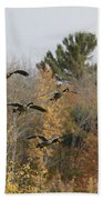 Autumn Geese Bath Towel