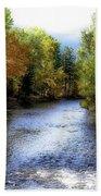 Autumn Harvest Along The River Bath Towel