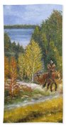 Autumn In Big Bear, 18x24, Oil, '08 Bath Towel