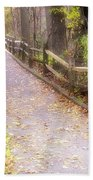Autumn In The Park Bath Towel