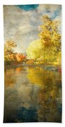 Autumn In The Pond Bath Towel