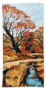 Autumn Landscape Bath Towel