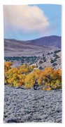 Autumn Landscape In Northern Nevada. Bath Towel